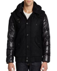 Nicholas K | Black Down Filled Convertible Jacket To Vest for Men | Lyst