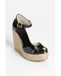 Jimmy Choo | Black 'pallis' Wedge Sandal | Lyst