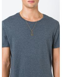 True Rocks - Metallic 'safety Pin' Necklace - Lyst
