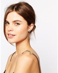 Ted Baker | Pink Sully Crystal Chain Stud Earring | Lyst