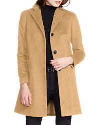 Lauren by Ralph Lauren | Natural Two-button Short Coat | Lyst