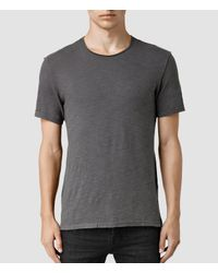 AllSaints | Gray Henning Crew T-shirt for Men | Lyst