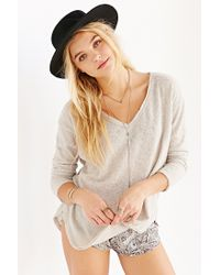 BDG - Natural Cozy Sweater Knit Top - Lyst