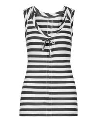 Sandwich | Gray Sleeveless Stripe Top | Lyst