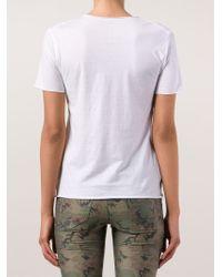 Lucien Pellat Finet - White Print T-shirt - Lyst