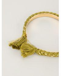 Aurelie Bidermann | Green Thin 'copacabana' Bracelet | Lyst