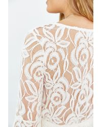 Kimchi Blue | White Lace Surplice-front Dress | Lyst