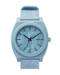 Nixon | Blue 'the Time Teller' Paisley Print Watch | Lyst