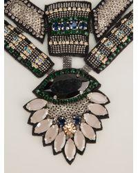 Deepa Gurnani - Gray Statement Beaded Necklace - Lyst