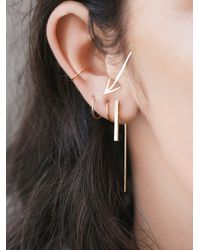 Free People | Metallic Melissa Joy Manning Womens Double Ear Hug | Lyst