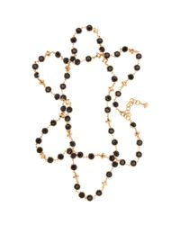 Ted Baker - Pink Gemari Long Crystal Row Necklace - Lyst