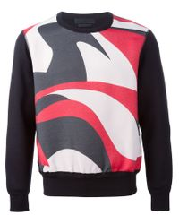 Alexander McQueen - Black Abstract Print Sweatshirt for Men - Lyst
