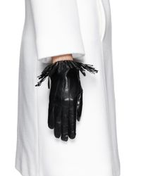 Maison Fabre - Black 'cowboy' Fringe Lamb Leather Gloves - Lyst