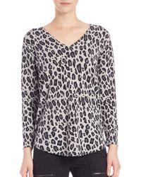 Joie - Multicolor Chyanne Leopard-print Sweater - Lyst