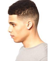 ASOS - White Plain Plug Earrings for Men - Lyst