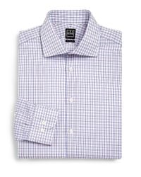 Ike Behar | Purple Checked Dress Shirt for Men | Lyst