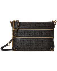 Elliott Lucca | Black Messina 3 Zip Clutch | Lyst
