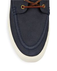 Polo Ralph Lauren | Blue Tenen Nubuck Boat Shoes for Men | Lyst