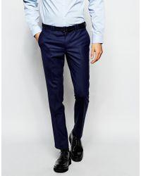Noak | Blue Suit Trousers In Super Skinny Fit for Men | Lyst