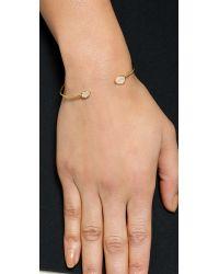 Tai | Metallic Dual Stone Bracelet - Gold/moon | Lyst