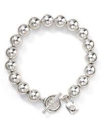 Pink Pony - Metallic Lauren Silver Bead Bracelet - Lyst