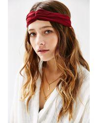 Urban Outfitters - Purple Eva Sheer Crisscross Headwrap - Lyst