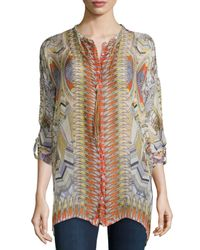 Johnny Was - Multicolor Braided Long Tassel Necklace - Lyst