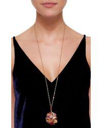 Sharon Khazzam Multicolor Gold, Mixed Stone, And Diamond Baby Locket