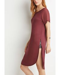 Forever 21 - Purple Contemporary Chiffon-sleeve Tunic - Lyst