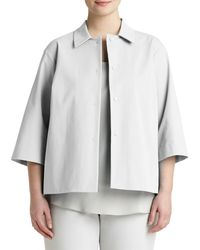 Lafayette 148 New York | Gray January Snap-front Topper Jacket | Lyst