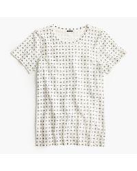 J.Crew - Natural Sparkle Foulard T-shirt - Lyst