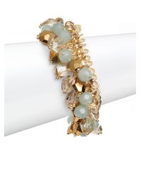 Saks Fifth Avenue - Multicolor Beaded Cluster Chain Bracelet - Lyst