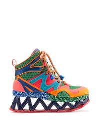 Marc By Marc Jacobs | Brown Ninja Wave High Top Platform Sneaker - Multicolor | Lyst