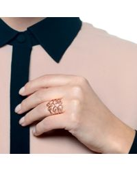 Lulu Frost | Metallic Code Number 14kt Rose Gold #3 Ring | Lyst