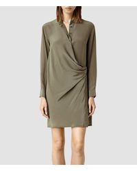 AllSaints - Natural Nicola Dress - Lyst
