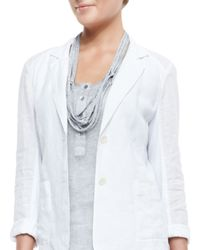 Eileen Fisher | Drapey Metallic Necklace | Lyst