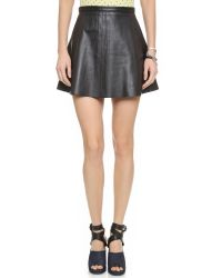 Love Leather | Black Legs Legs Legs Skirt - Blue Moon | Lyst