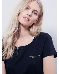 Free People - Black We The Free Womens We The Free Bridget Tee - Lyst