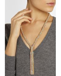 Carolina Bucci - Metallic Braided Goldplated and Silver Necklace - Lyst