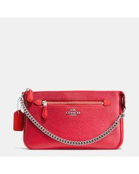 COACH | Metallic Nolita Wristlet 24 In Colorblock Leather | Lyst
