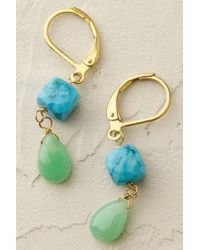 Anthropologie | Green Prismatic Drop Earrings | Lyst