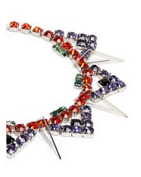 Joomi Lim | Multicolor 'high Society' Metal Cutout Charm Crystal Necklace | Lyst