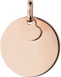 Links of London | Pink 18ct Rose Gold-plated Disc Charm - For Women | Lyst