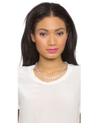 Ca&Lou | Metallic Debutante Necklace - Silver/clear | Lyst