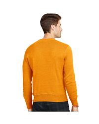 Polo Ralph Lauren - Orange Cotton Crewneck Sweater for Men - Lyst