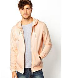 ASOS | Pink Zip Through Hoodie for Men | Lyst