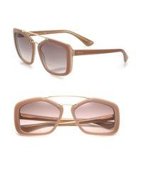 Prada - Pink 56mm Square Sunglasses - Lyst