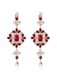 DSquared² - Red Crystal Pendant Earrings - Lyst