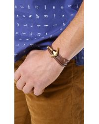 Miansai - Brown Anchor Half Cuff for Men - Lyst