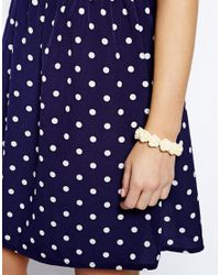 Cath Kidston | Natural Rose Stretch Bracelet | Lyst